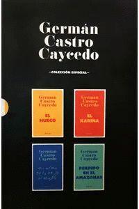 GERMAN CASTRO CAYCEDO ESTUCHE /EL HUECO / EL KARINA / MI ALMA SE LA DEJO AL DIABLO / PERDIDO EN EL AMAZONAS