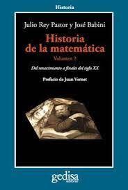HISTORIA DE LA MATEMATICA. VOL II DEL RENACIMIENTO A FINALES DEL SIGLO XX