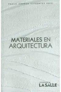 MATERIALES EN ARQUITECTURA